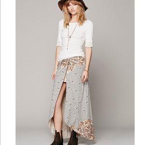 Free People Printed Column Maxi Skirt